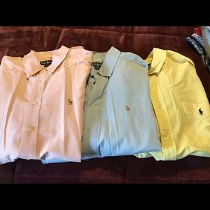 Spring Ralph Lauren long sleeves (lot of 3)
